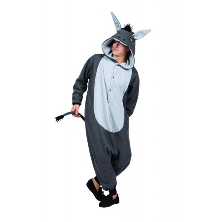 100 Acres Donkey Funsie Adult Costume - Dopey Costume