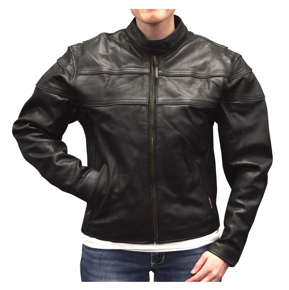 Redline Women's Mid-Weight Reflective Leather Motorcycle ...