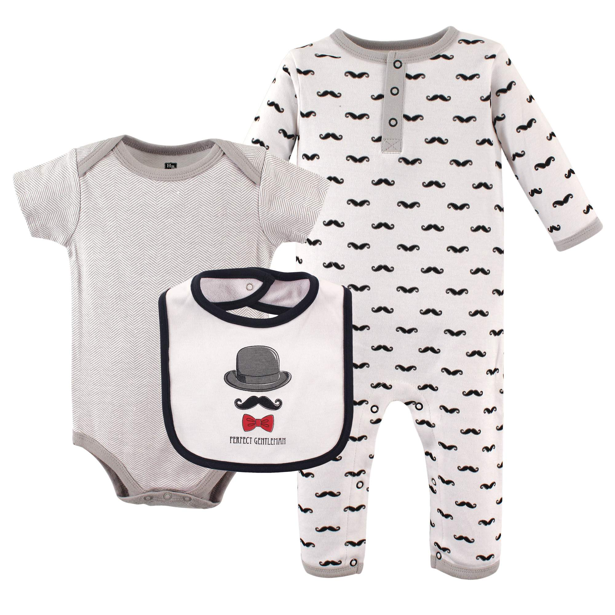 Hudson Baby Newborn Baby Boys' 3-Piece Layette Set