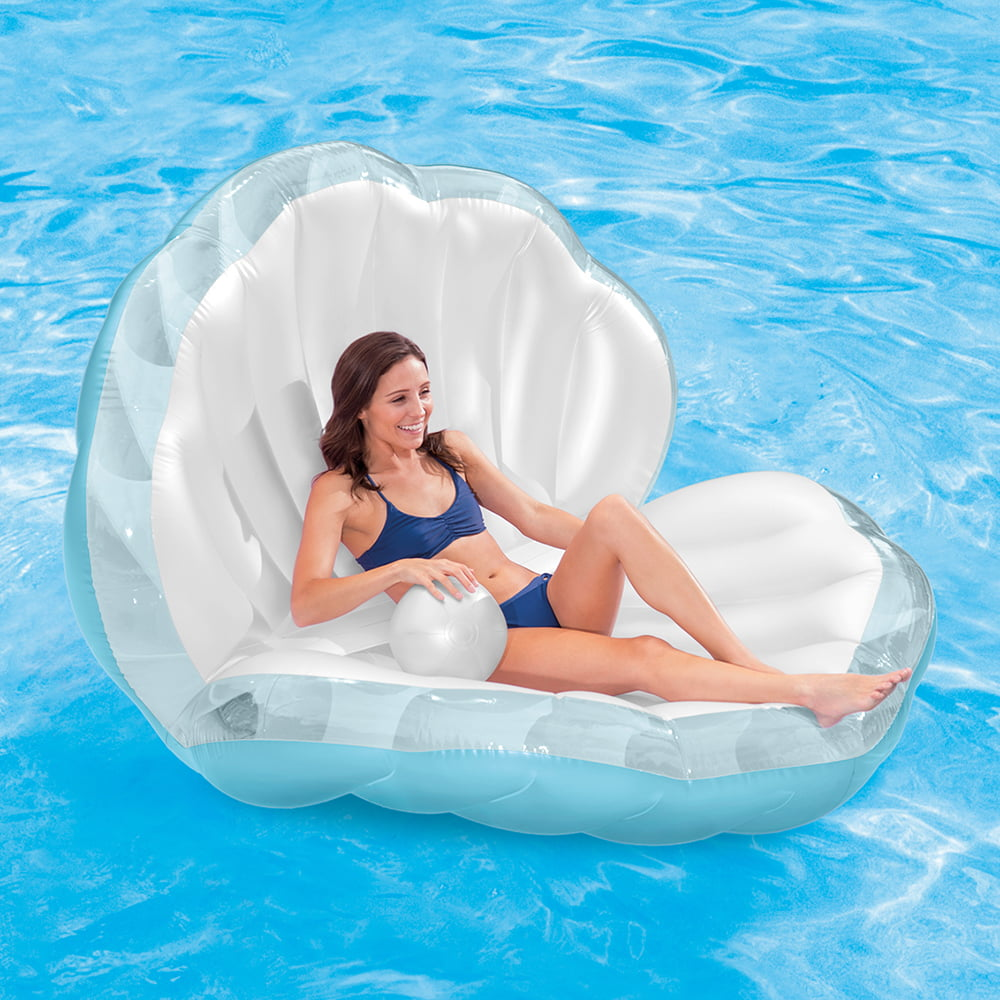 "Intex Seashell Pool Float with Inflatable Pearl, 62"" x 61"" x 45"" by Intex"