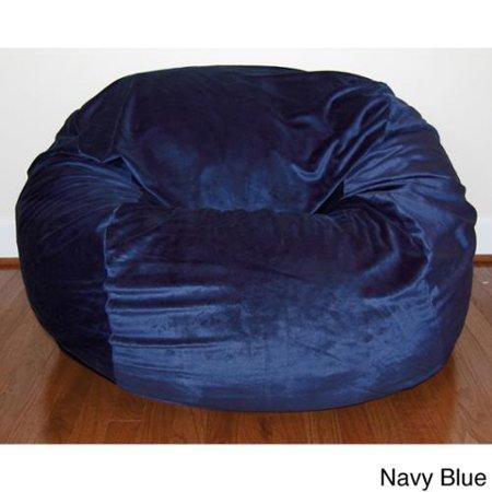 Cuddle Soft Minky 36 Inch Washable Bean Bag Chair Navy