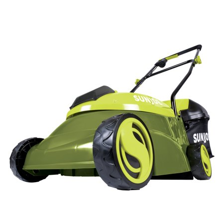 "Sun Joe 14"" 28-V 5 Ah Battery Push Mower + Trimmer + Accessory"