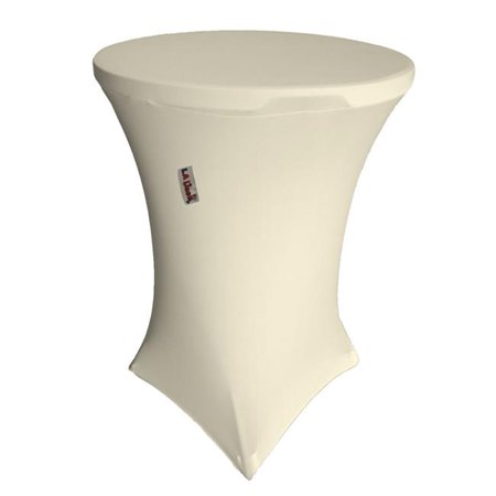 TCSpandex36Rx42H-IvoryX25 Round Spandex Cover for Bar High Cocktail Table, Ivory - 36 & 42 in. ()