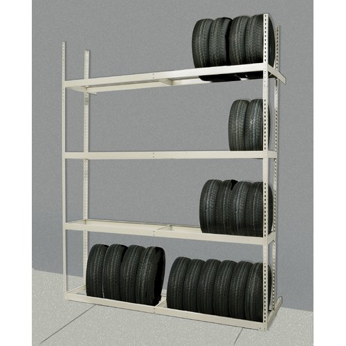 Hallowell Tire Storage  84'' H 4 Shelf Shelving Unit Add-on
