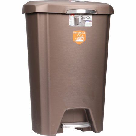Hefty Select 12.2 Gal Step on Wastebasket with Soft - Medium Soft Wastebasket