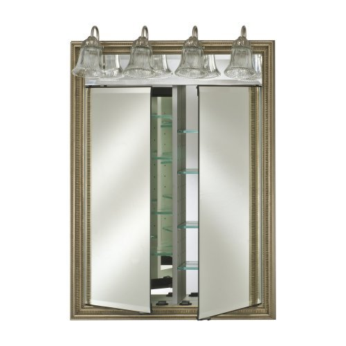 Afina Signature Traditional Lighted Double Door 24W x 34H in. Surface Mount Medicine Cabinet