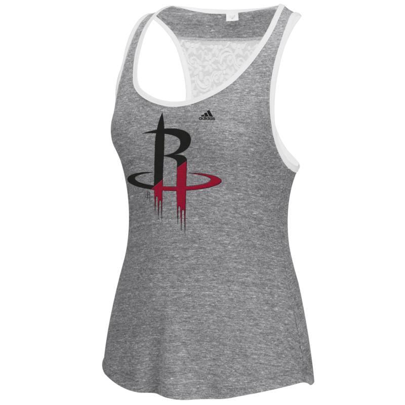 Adidas Houston Rockets Womens Energized Logo Tank Top (Gray)