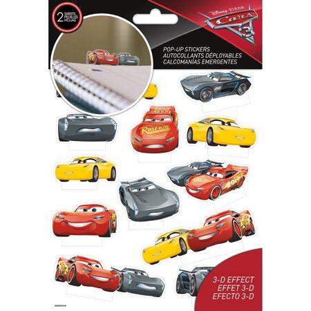 Sandylion Disney Pop-Up Stickers 2 Sheets-Cars 3 (Disney Cars Stickers)
