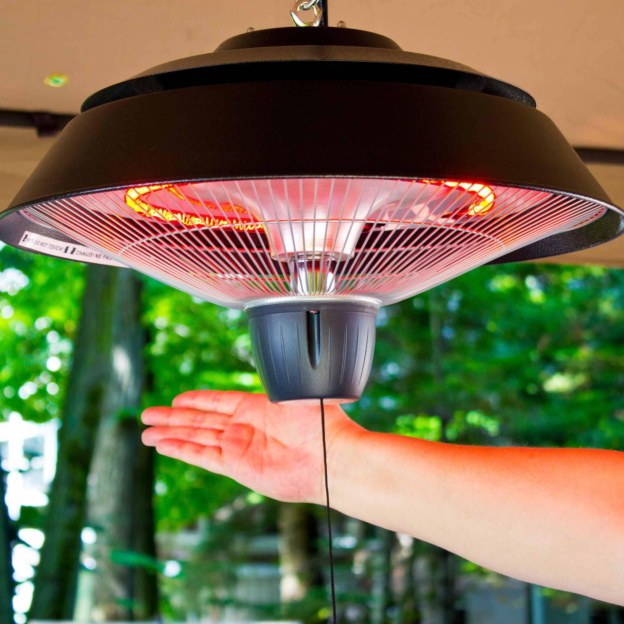 Energ 1500 Watt Hanging Electric Infrared Gazebo Heater Hammered