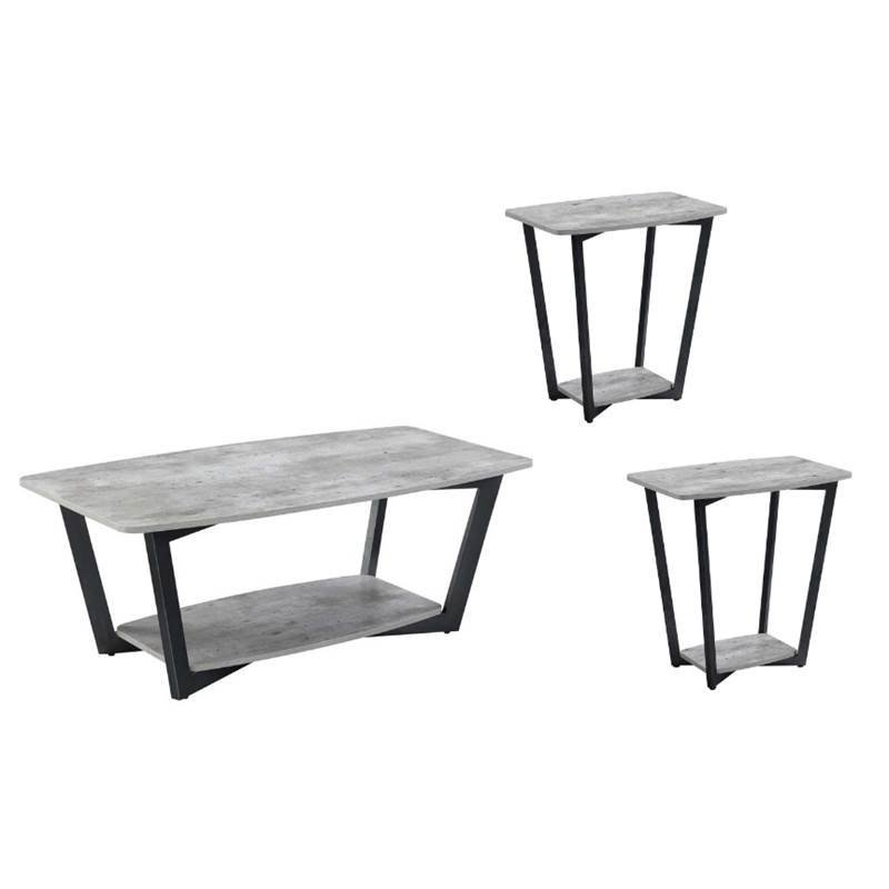 3 Piece Coffee Table Set With Coffee Table And Set Of 2 End Table