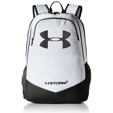 867eaaff4f48 Under Armour Boy s Storm Scrimmage Backpack (White Black) from ...