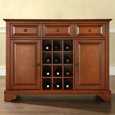 Crosley Furniture LaFayette Buffet Server and Sideboard Cabinet with Wine (Crosley Cherry Cabinet)