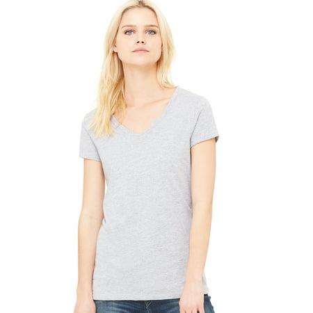 6423adc299cc Bella+Canvas - Bella + Canvas Women's Jersey Short Sleeve V-Neck T-Shirt -  B6005 - Walmart.com