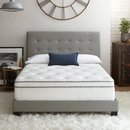 "Contura Flex 14"" Plush Pillow Top Cooling Air Flow Gel Foam and Innerspring Hybrid Mattress Bed, Multiple Sizes"