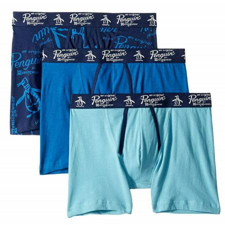 PENGUIN 3 PACK BOXER BRIEFS - 8215 - BLUE PRINT - LARGE - COTTON UNDERWEAR