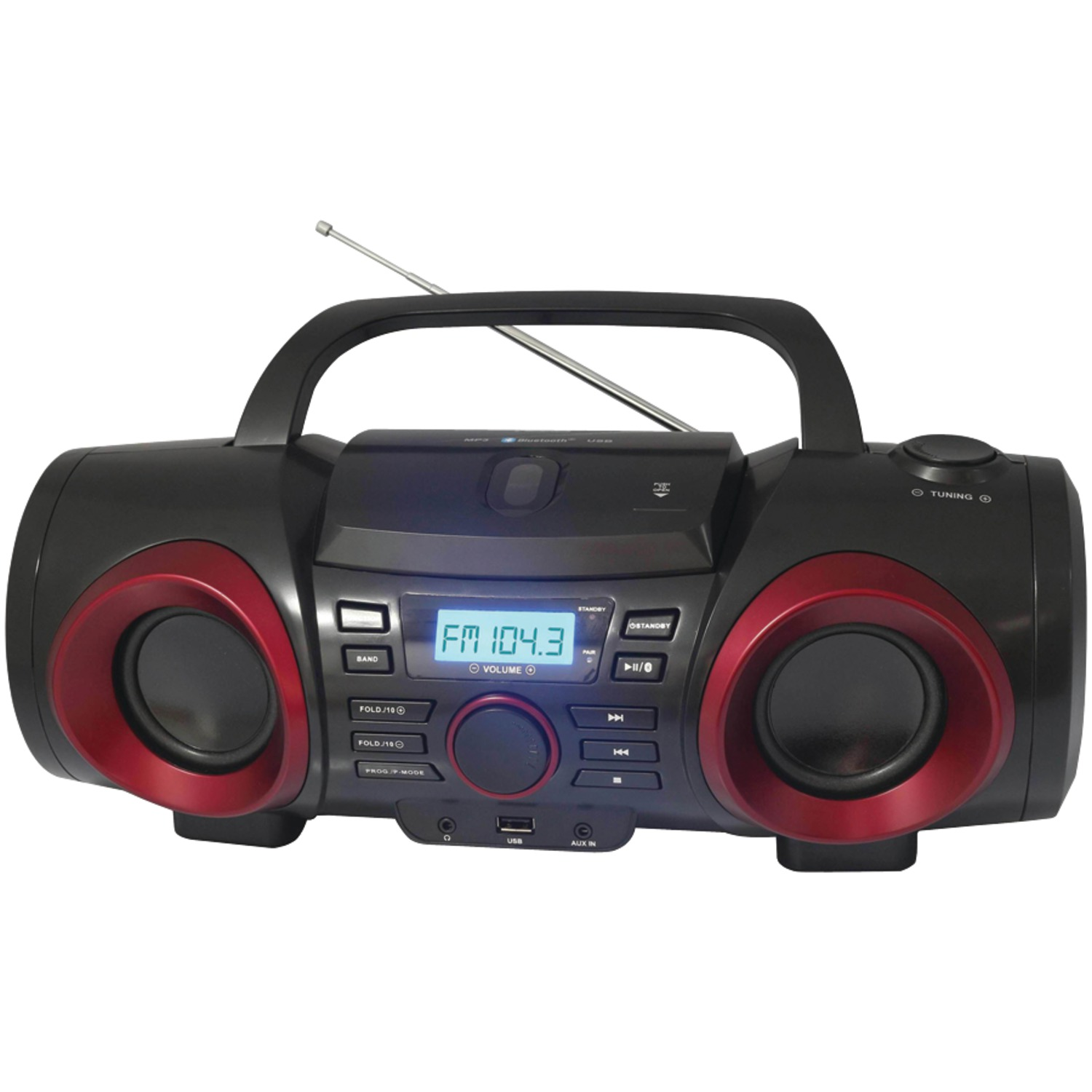 Naxa NPB-267 MP3/CD Classic Bluetooth Boom Box