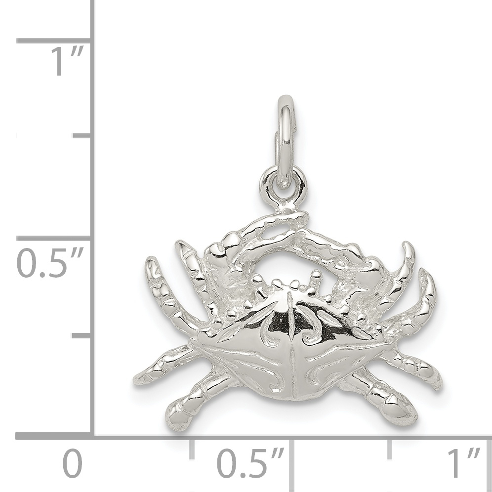Sterling Silver Crab Charm QC2514 (17mm x 22mm) - image 1 of 2