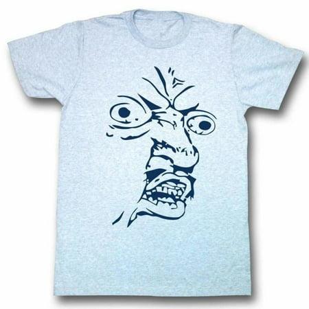Y U No Memes Face Shot Adult Short Sleeve T Shirt (Memes Halloween Borracho)