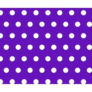 SheetWorld Fitted Fitted Oval Crib Sheet (Stokke Sleepi) - Polka Dots Purple