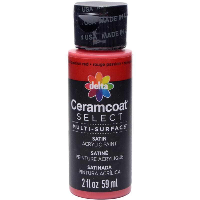 Ceramcoat Select Multi-surface Paint 2oz-passion Red