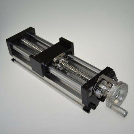 100mm Manual Sliding Table SFU1605 Ballscrew Linear Stage Actuator US