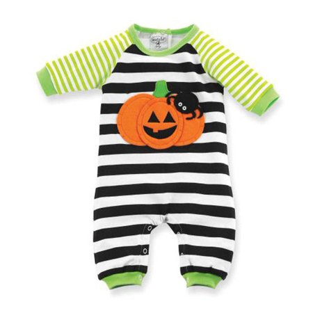 Newborn Baby Kids Boys Girls Pumpkin Romper Jumpsuit Bodysuit Cotton Outfit Set](Pumkin Outfit)