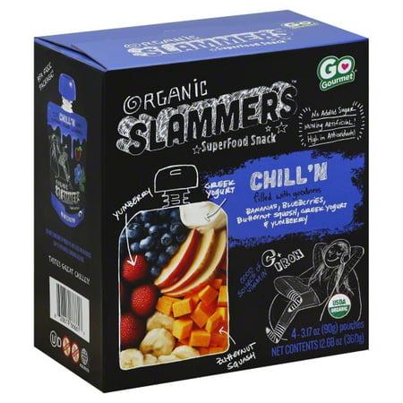 Slammers Yumberry, Banana, & Blueberry Organic SuperFood Snack, 3.17 oz (Fruit Yogurt)