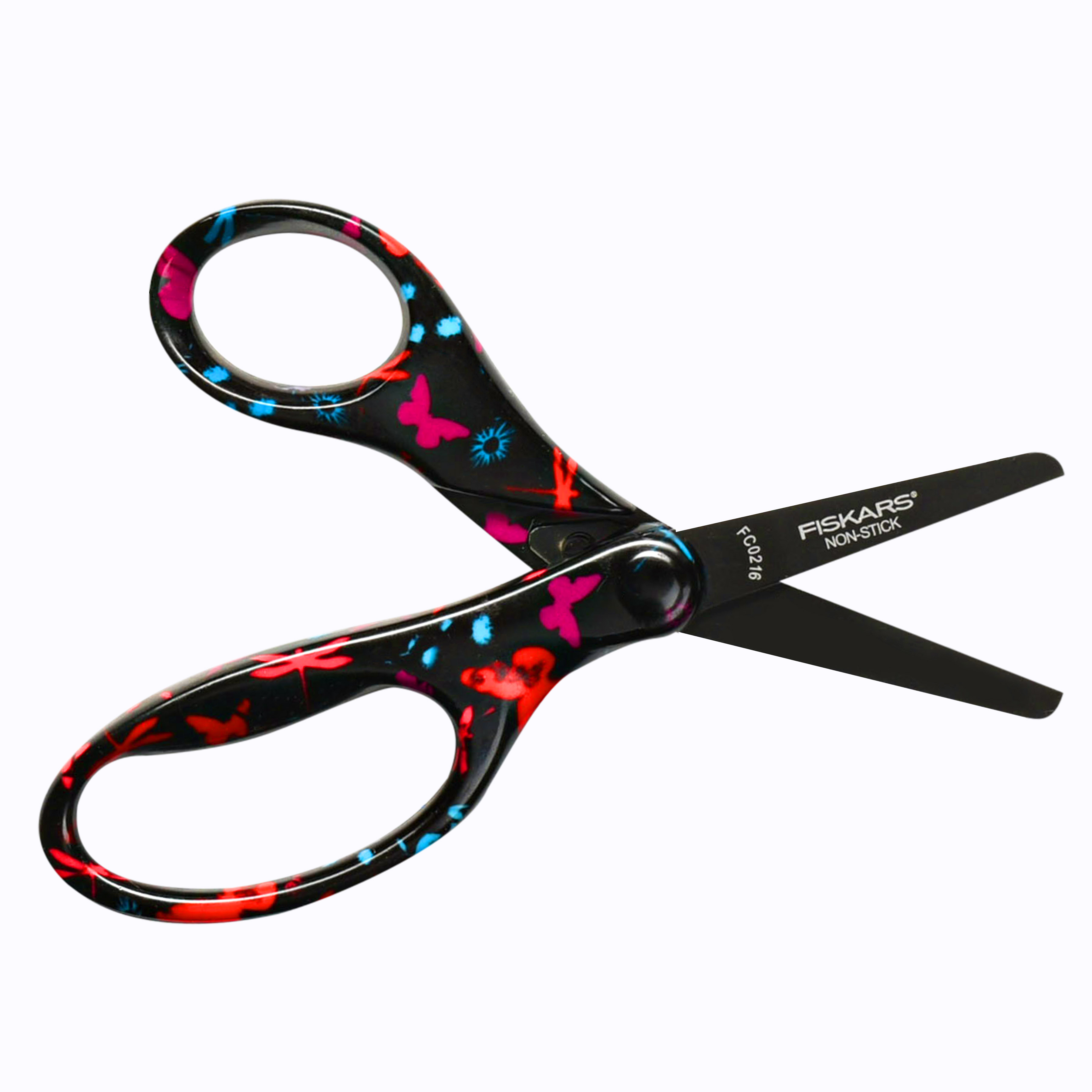 Fiskars Scissors for Kids  5 Inch Heavy Duty Safety Cut Scissors w/ Blunt Tip, Round Edge & Non Stick Design  Perfect for Kindergarten or Grade School Classroom  #1 Youth Scissors Brand for Ages 4+