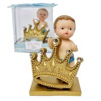 "Baby Shower Party Favor Boy Prince Figurine Keepsake Decoration 3"" H"