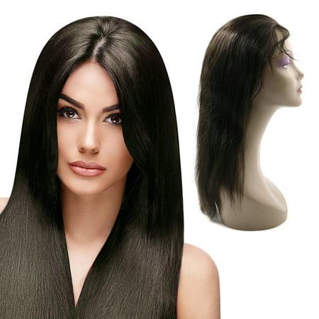 (Unique Bargains Straight Human Hair Wigs 20