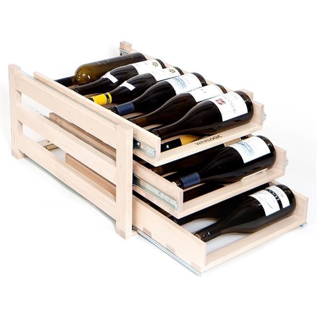 Wine Logic Three Tray 18 Bottle Storage Wine Rack 22.25 x 11 x 16.13 in. by Wine Logic