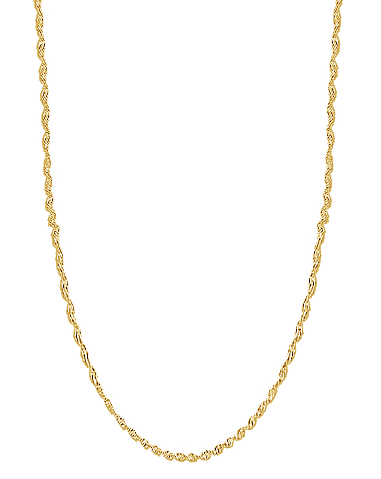 14k Yellow Gold Singapore Rope Chain Necklace 1.7 Mm 20 Inches