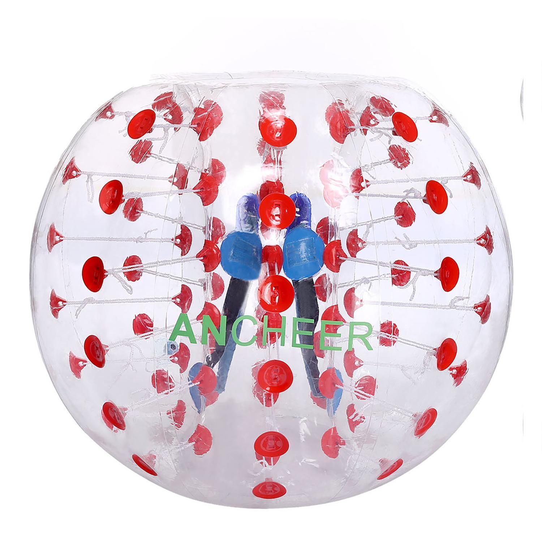 Ancheer TPU Transparent Inflatable Bumper Ball Human Knocker Ball Bubble Soccer 1.2M by