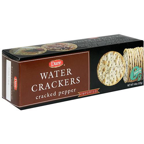 Dare Cracked Pepper Water Crackers, 4.4 oz (Pack of 12)
