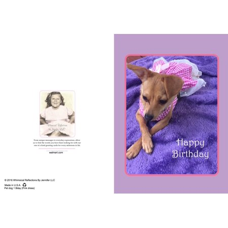 Say Happy Birthday With This Adorable Greeting Card With Dog Dressed