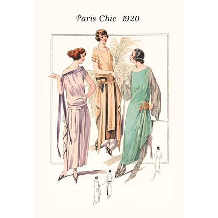 Page from a 1920s fashion catalog from France with the lastest in womens attire Poster Print by unknown](1920s Womens Attire)