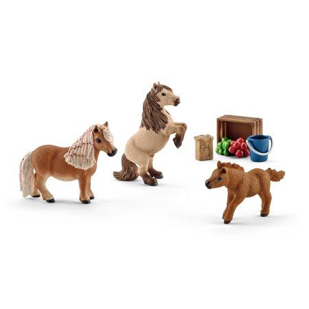 Schleich Farmland, Miniature Shetland Pony Family Toy Figure