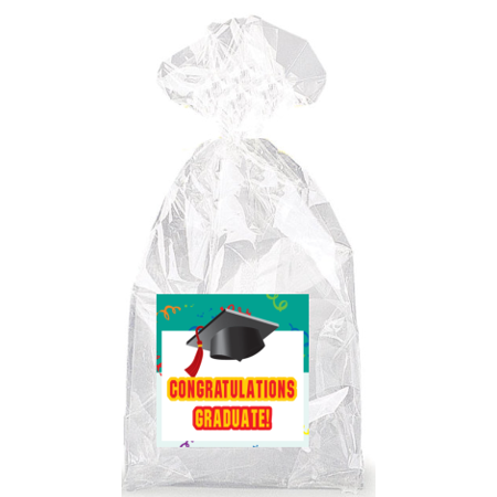Congratulations Graduate! Party Favor Bags with Ties - 12pack