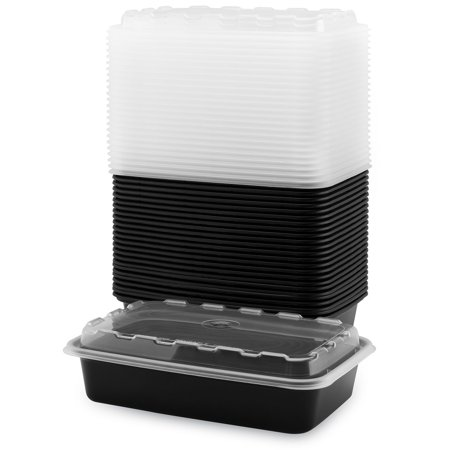 (50 count) Snap Pak Food Storage Container - 28oz Leak-Free, Air Tight Lids