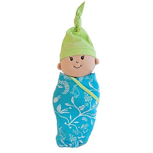 Manhattan Toy Baby Stella Swaddling Blankie & Cap 15 Baby Doll Outfit