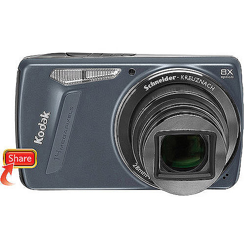 "Kodak Easyshare M580 Blue 14MP Digital Camera w/ 8x Optical Zoom, 3.0"" LCD"