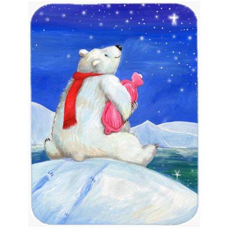Carolines Treasures CDCO0488LCB Polar Bear with Hot Water Bottle Glass Large Cutting Board - image 1 de 1