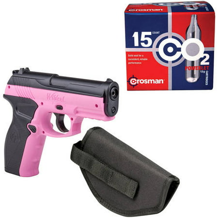 - Crosman Wildcat .177 Caliber Air Pistol with Holster and 15ct CO2 Bundle