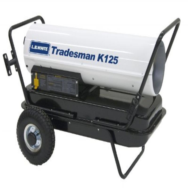 L.B. White CP125CK Tradesman K125 Portable Forced Air Kerosene Heater, 125,000 Btuh by