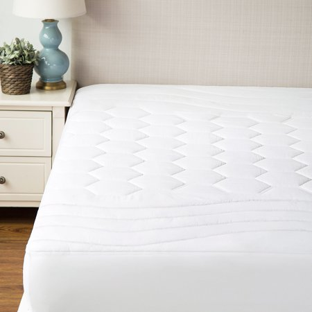 Fitted Bed Warmer (Bedsure Hypoallergenic Antibacterial Quilted Mattress Pad Ultra Soft Breathable Mattress Protector Fitted Sheet Mattress Cover with Deep Fit White )