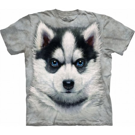 Cotton Siberian Husky Puppy Awesome Youth T-Shirt (Small) NEW