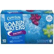 (4 Pack) Capri Sun Roarin' Waters Grape, 10 - 6 fl oz Pouches