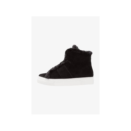 DKNY Womens Mason-High Top SNE Leather Hight Top Pull On Fashion Sneakers Leather Pull On Heels