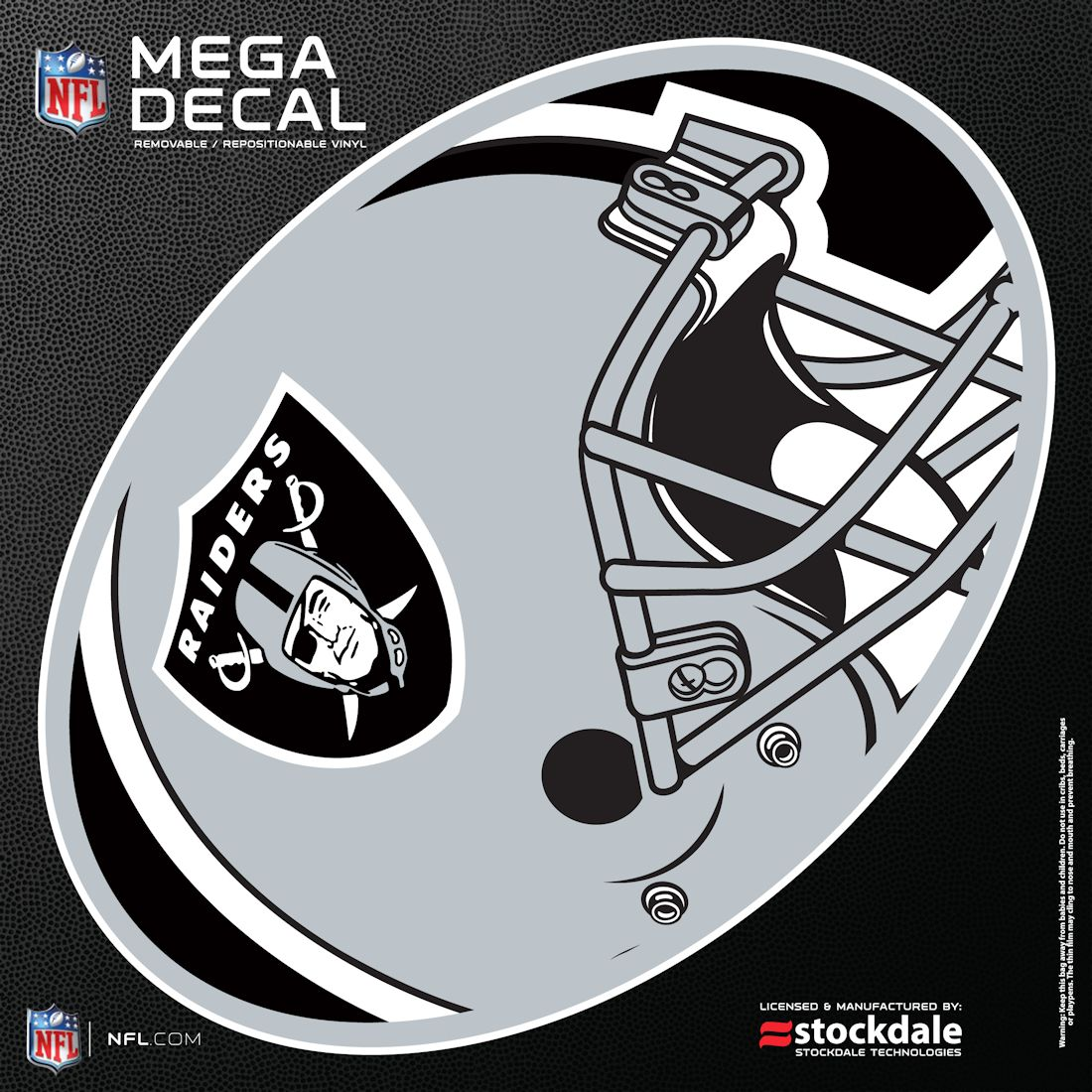 "Oakland Raiders 12""x12"" Mega Decal"