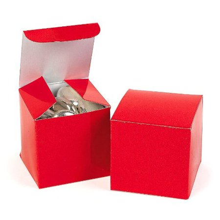 Fun Express 2 Pack of 24 Mini Red Gift Boxes